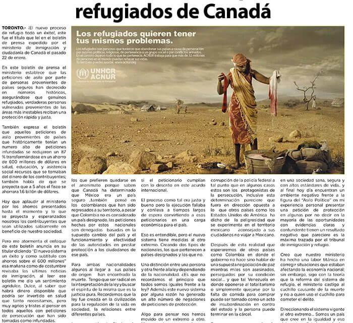 Polémico éxito del nuevo proceso de refugiados de Canadá
