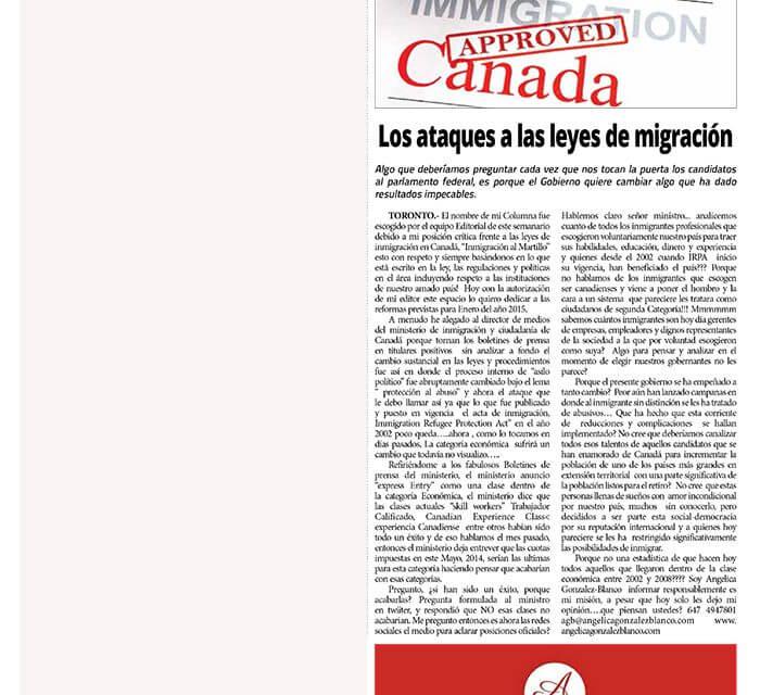 Los ataques a las leyes de migración