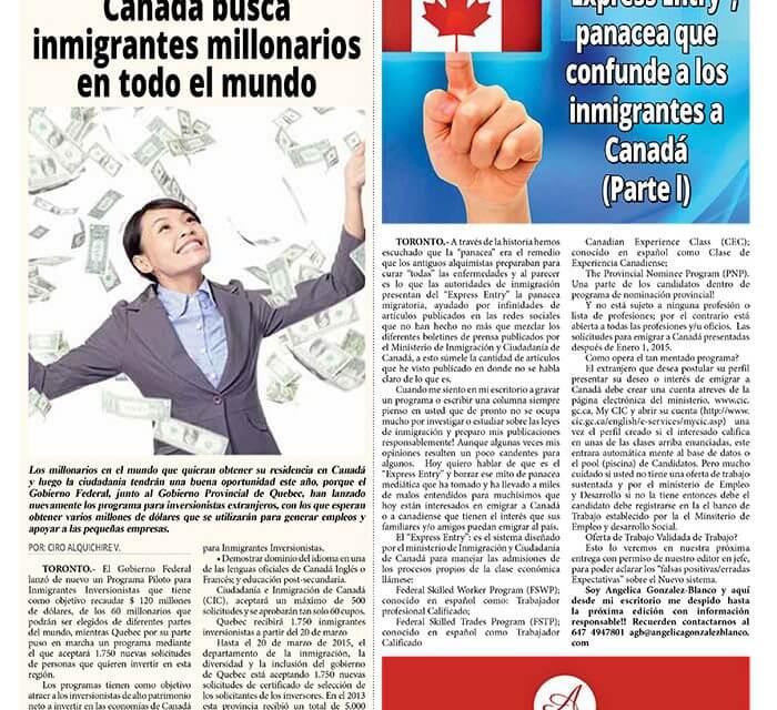 """""""Express Entry"""", panacea que confunde a los inmigrantes a Canadá (Parte l)"""