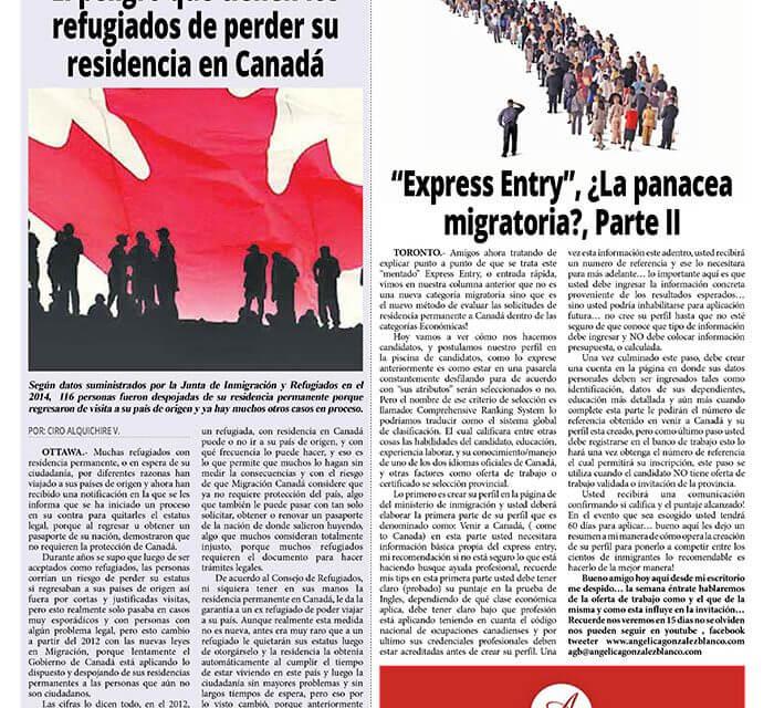 """""""Express Entry"""", ¿La panacea migratoria?, Parte II"""