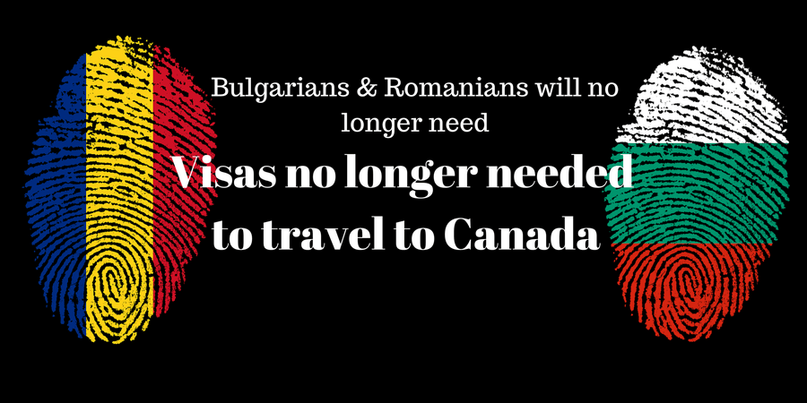 Romanians & Bulgarians will no longer need visas to travel to Canada