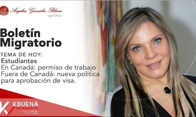 Boletín migratorio – Estudiantes – Julio 15