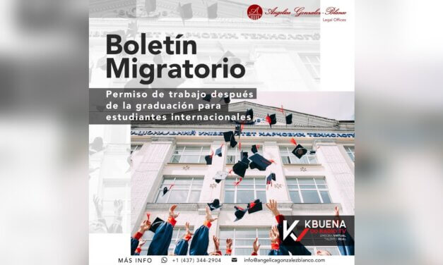 Boletín Migratorio – Permiso de trabajo después de la graduación para estudiantes internacionales