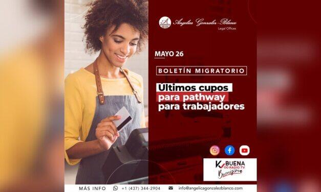 Boletín Migratorio – mayo 26/2021 – Últimos cupos para Pathway para trabajadores